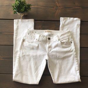 CAbi Indie Straight Leg White Jeans